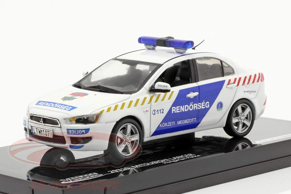 Mitsubishi Lancer X Politie Hongarije 1:43 Vitesse
