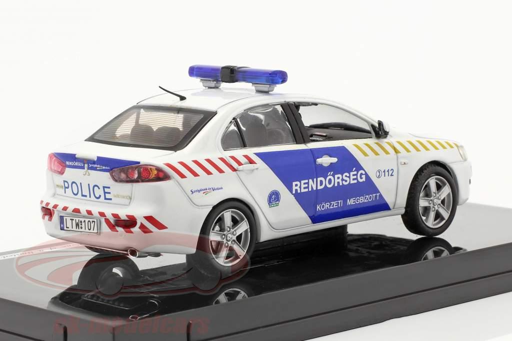 Mitsubishi Lancer X policiers hongrie 1:43 Vitesse