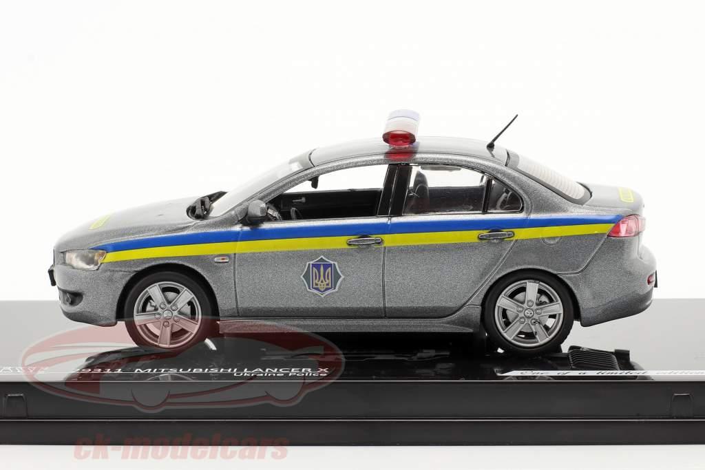Mitsubishi Lancer X policiers ukraine 1:43 Vitesse
