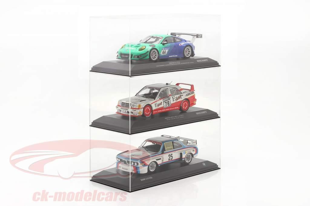 Alta qualità Vetrina in acrilico per Modellini di automobili nel scala 1:18 con base SAFE