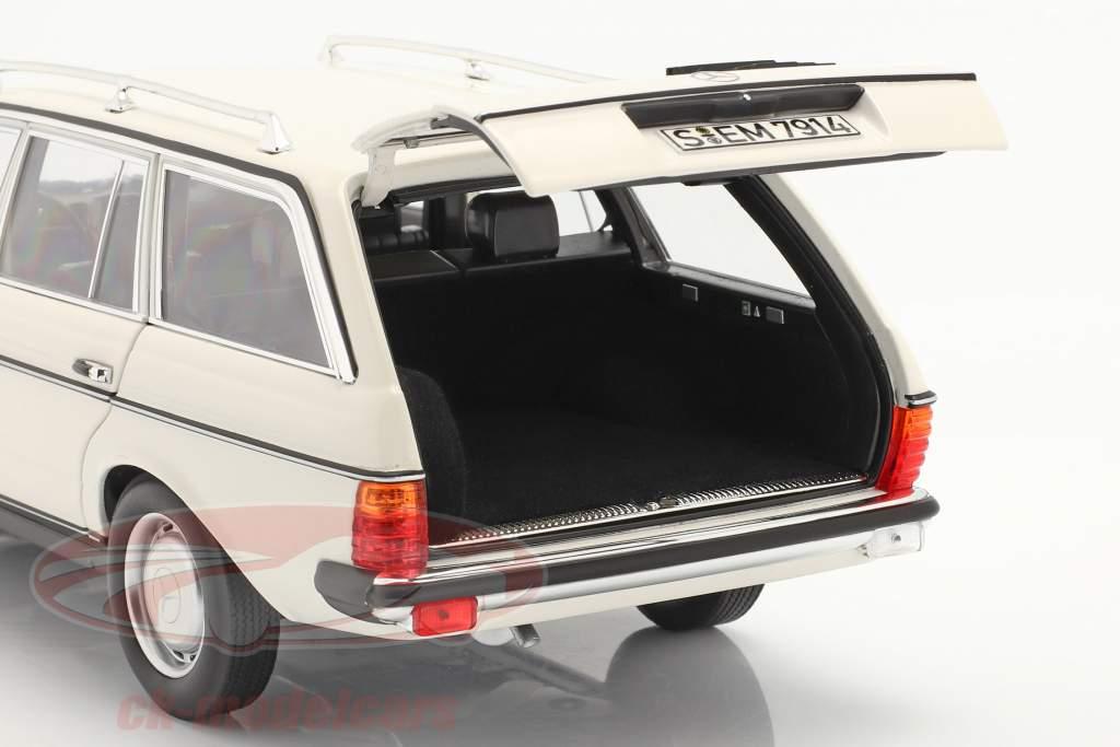 Mercedes-Benz 200 T (S123) Byggeår 1982 hvid 1:18 Norev
