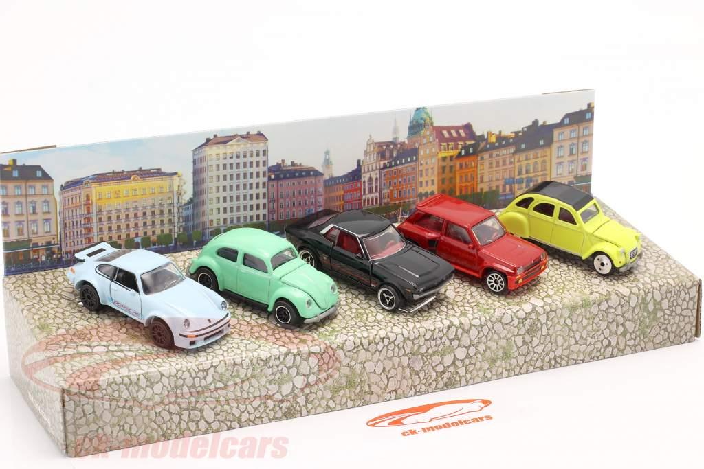 5-Car Set Vintage Gift pack 1:64 Majorette