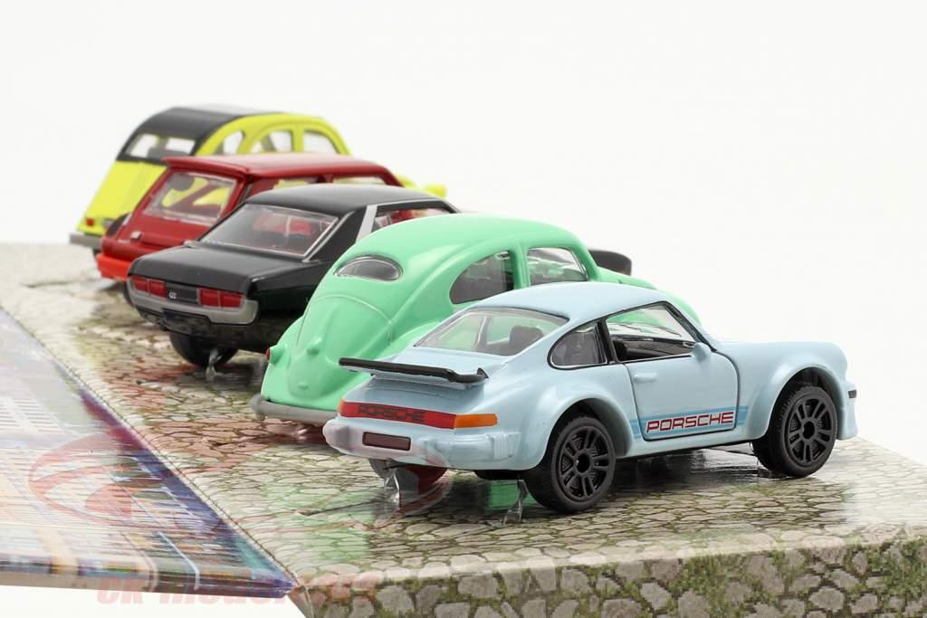 5-Car Set Vintage Gavepakke 1:64 Majorette