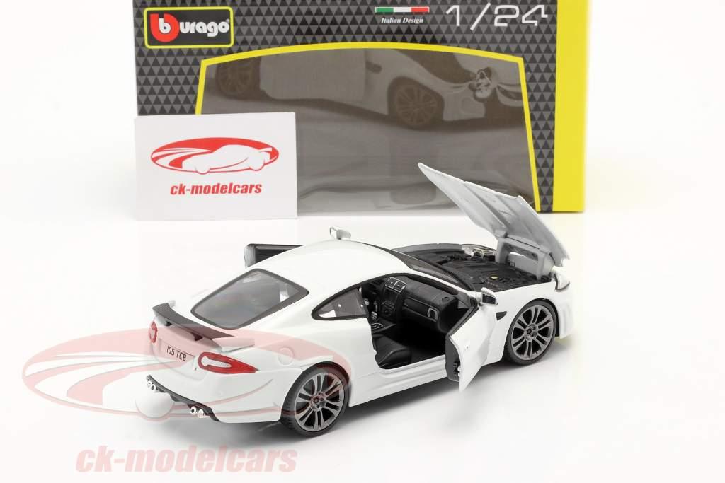 Jaguar XKR-S Bouwjaar 2011 Wit 1:24 Bburago