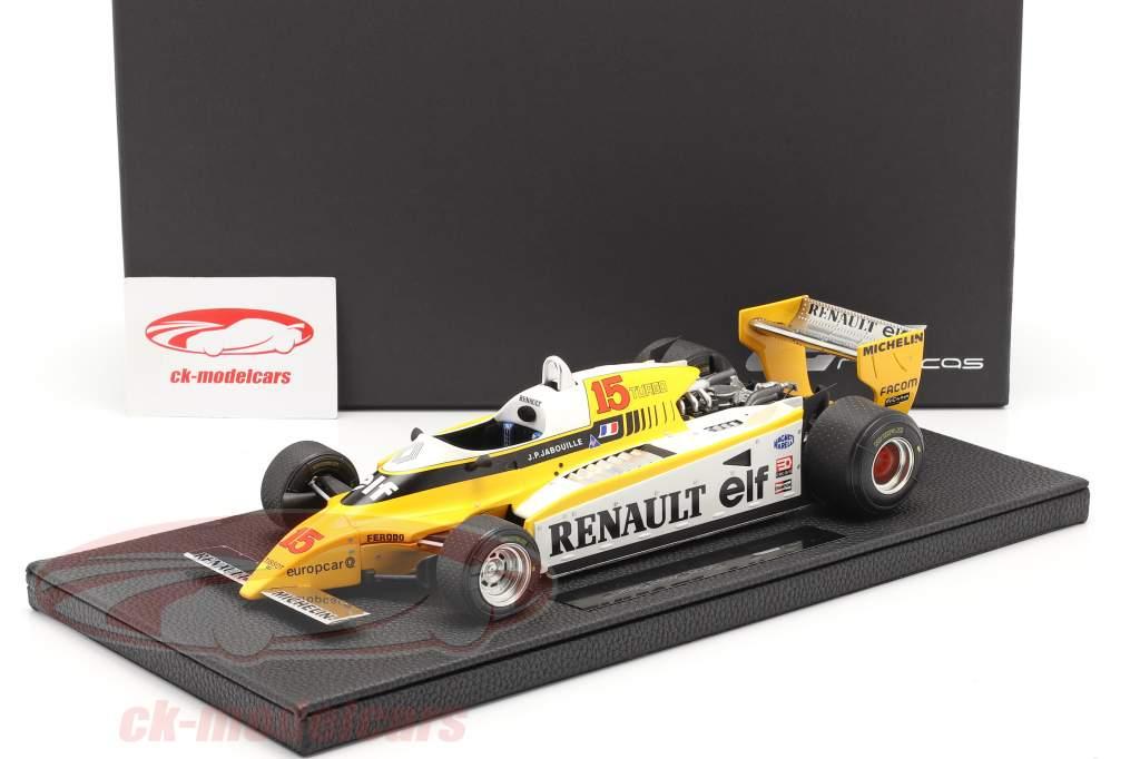 Jean-Pierre Jabouille Renault RE20 Turbo #15 Formel 1 1980 1:18 GP Replicas