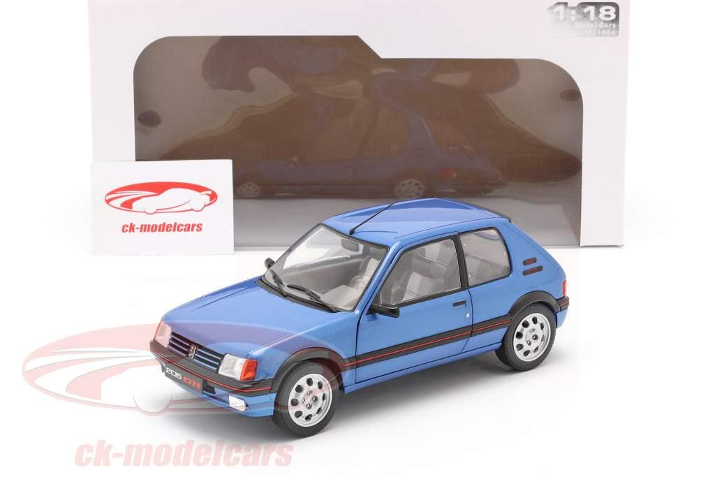 Peugeot 205 GTi 1.9L Mk1 Anno di costruzione 1988 blu metallico 1:18 Solido