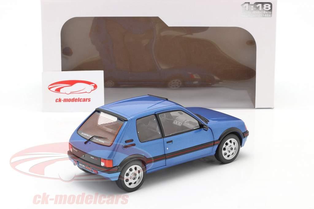 Peugeot 205 GTi 1.9L Mk1 year 1988 blue metallic 1:18 Solido
