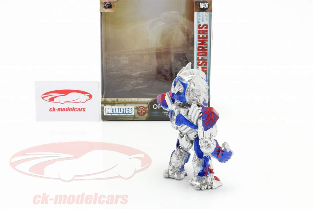 Optimus Prime figure 4 inch Transformers (2017) silver / blue / red Jada Toys