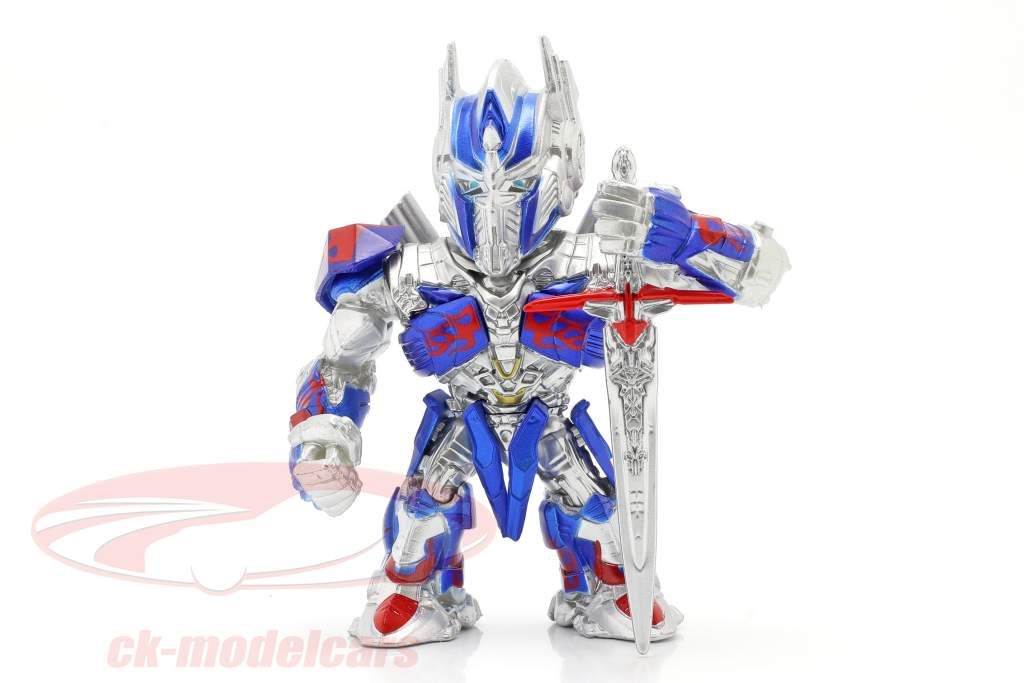 Optimus Prime Figur 4 inch Transformers (2017) silber / blau / rot Jada Toys