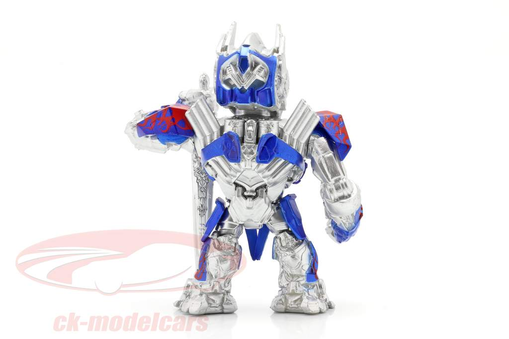 Optimus Prime figur 4 inch Transformers (2017) sølv / blå / rød Jada Toys