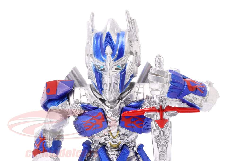 Optimus Prime figuur 4 inch Transformers (2017) zilver / blauw / rood Jada Toys