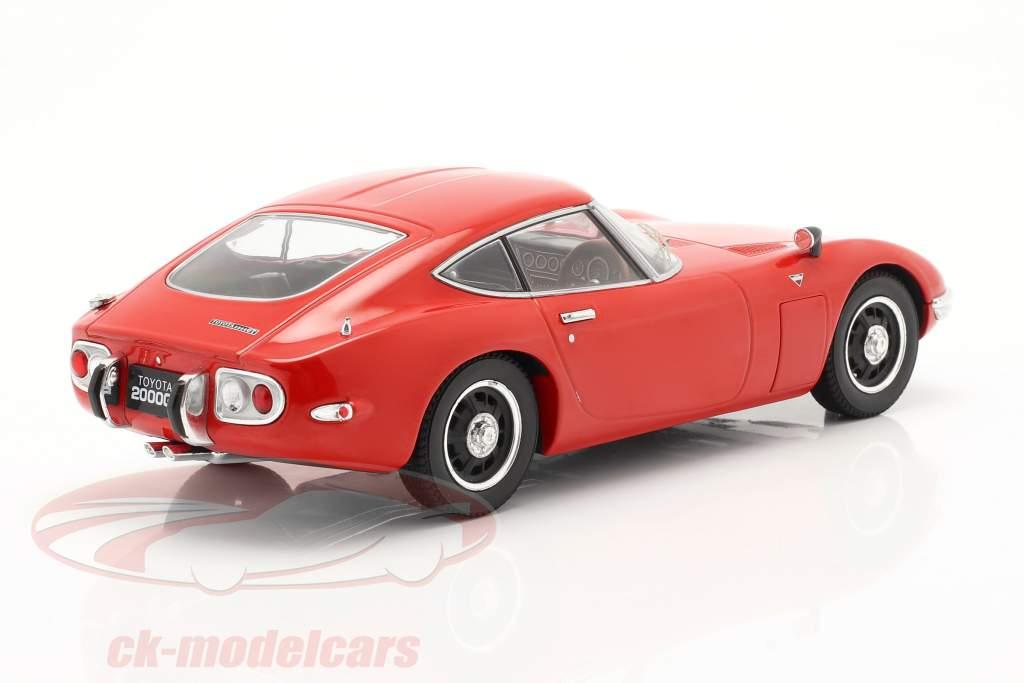 Toyota 2000 GT Baujahr 1967 rot 1:18 Triple 9