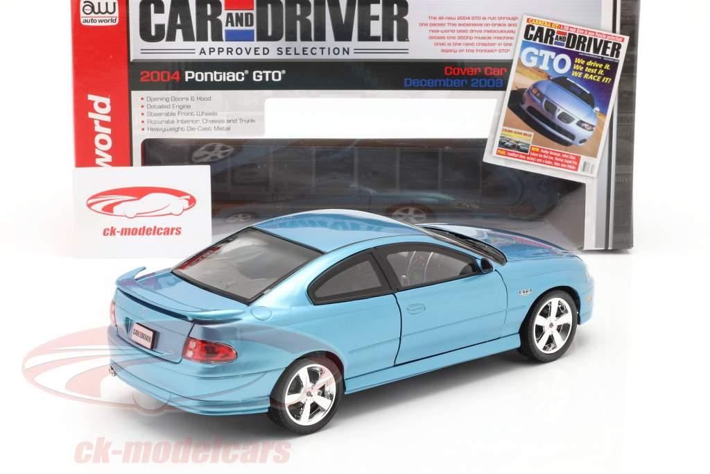 Pontiac GTO Coupe anno 2004 blu metallico 1:18 autoworld