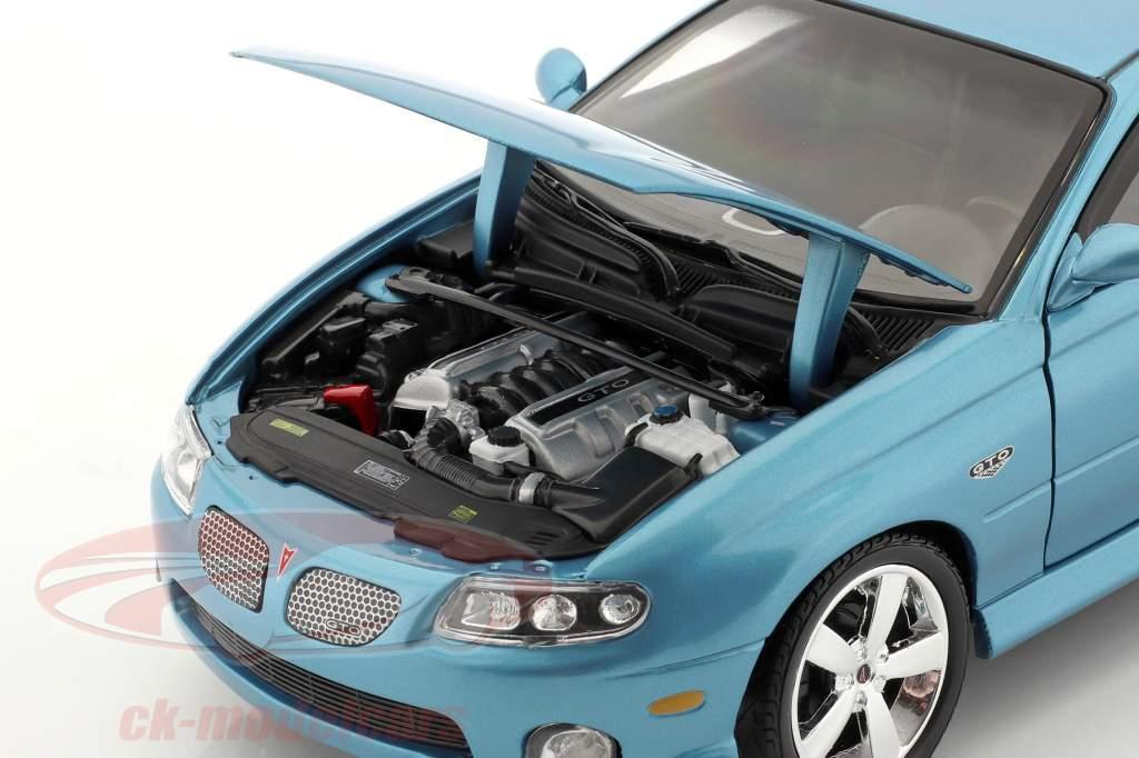 Pontiac GTO Coupe ano 2004 azul metálico 1:18 autoworld