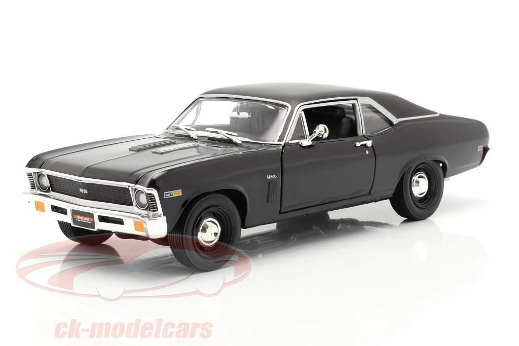 Chevrolet Yenko Nova Byggeår 1969 sort 1:18 AutoWorld