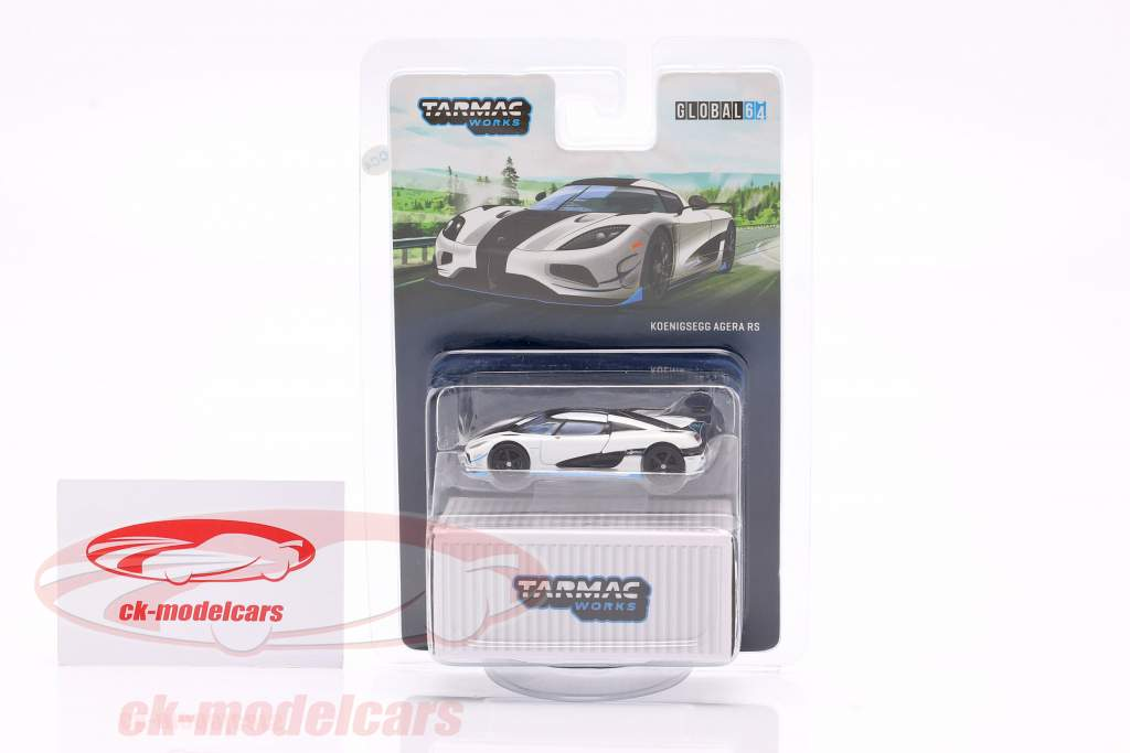 Koenigsegg Agera RS year 2015 white / black 1:64 Tarmac Works