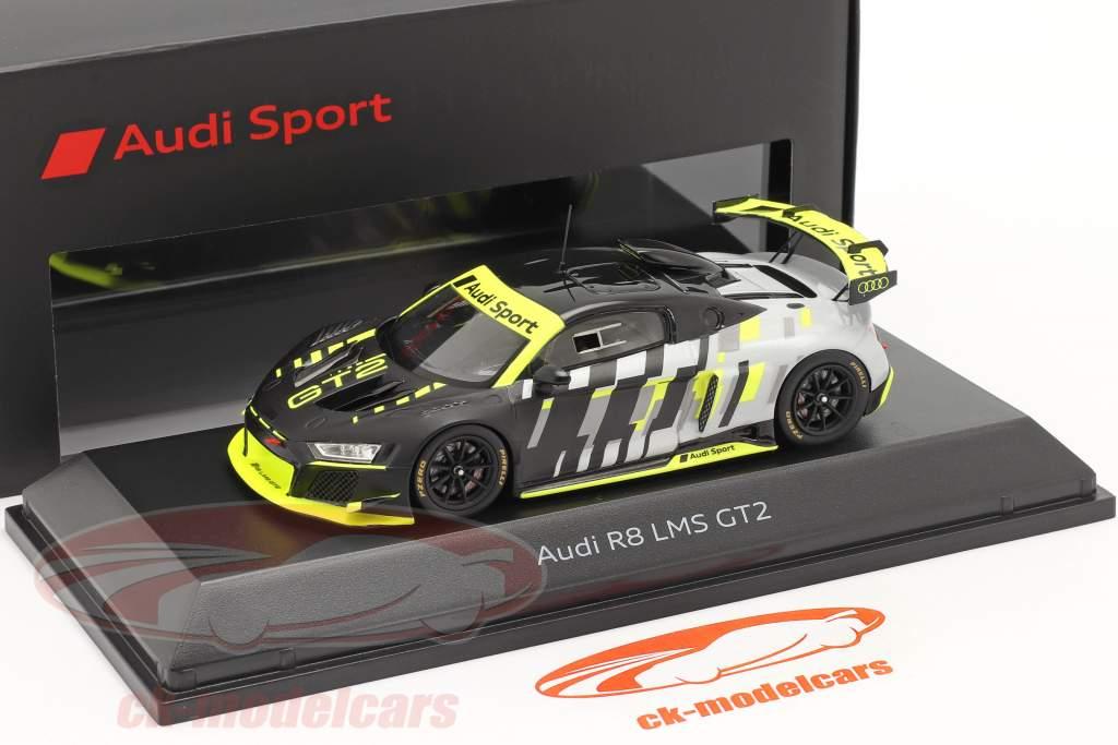 Audi R8 LMS GT2 Presentation Car noir / grise / jaune 1:43 Spark