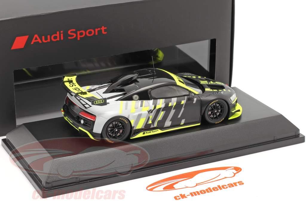 Audi R8 LMS GT2 Presentation Car nero / Grigio / giallo 1:43 Spark