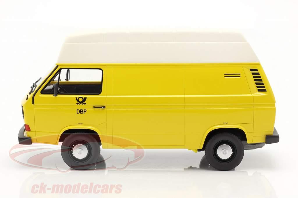 Volkswagen VW T3 high roof Deutsche Bundespost Year 1979 yellow 1:18 PremiumClassiXXs