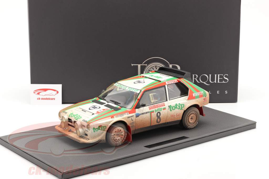 Lancia Delta S4 #8 2. plads Rallye SanRemo 1986 Dirty Version 1:12 TopMarques