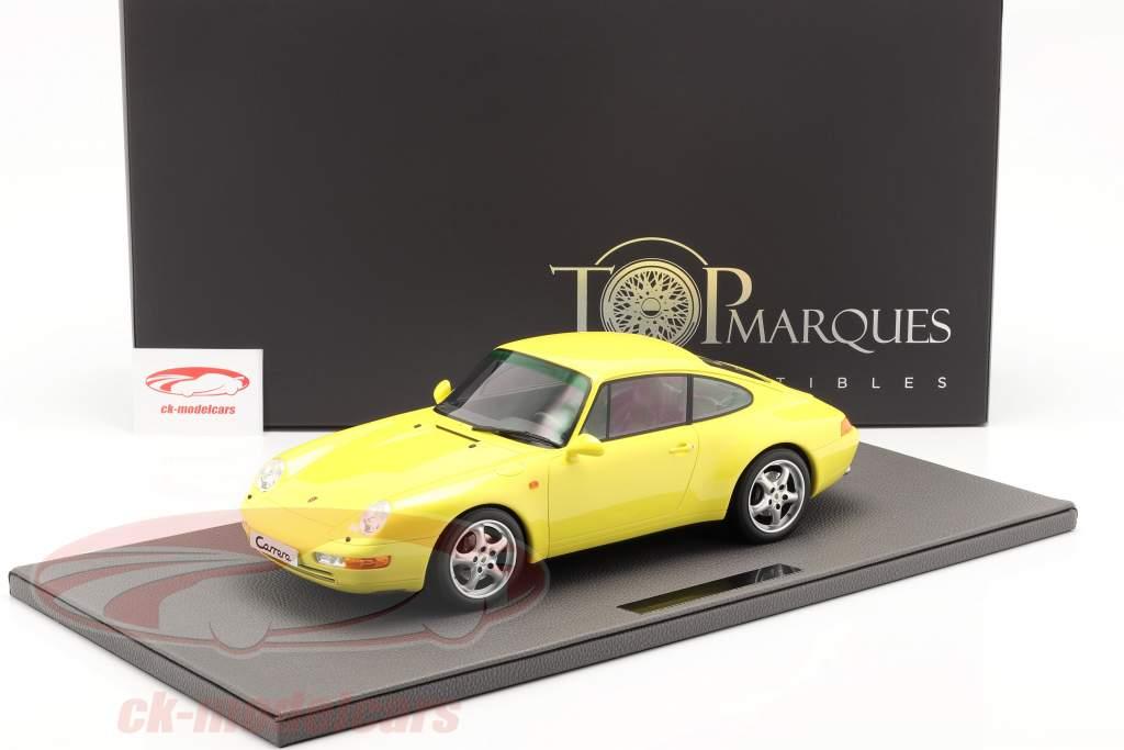 Porsche 911 (993) Carrera 2 Baujahr 1994 gelb 1:12 TopMarques