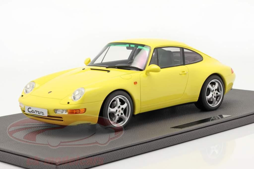 Porsche 911 (993) Carrera 2 Bouwjaar 1994 geel 1:12 TopMarques