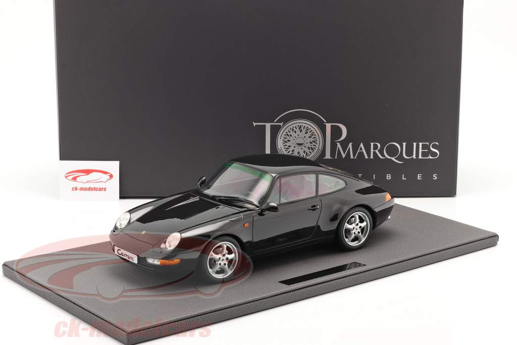 Porsche 911 (993) Carrera 2 Byggeår 1994 sort 1:12 TopMarques