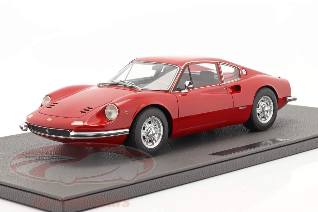 Ferrari Dino 206 GT Bouwjaar 1969 rood 1:12 TopMarques