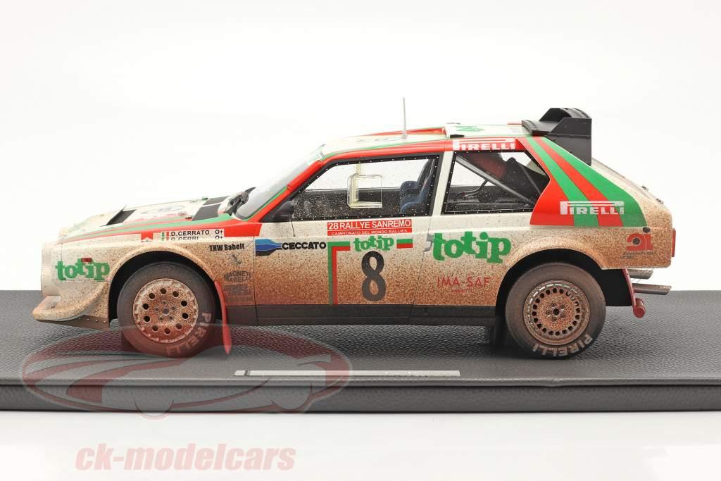 Lancia Delta S4 #8 2e Rallye SanRemo 1986 Dirty Version 1:12 TopMarques