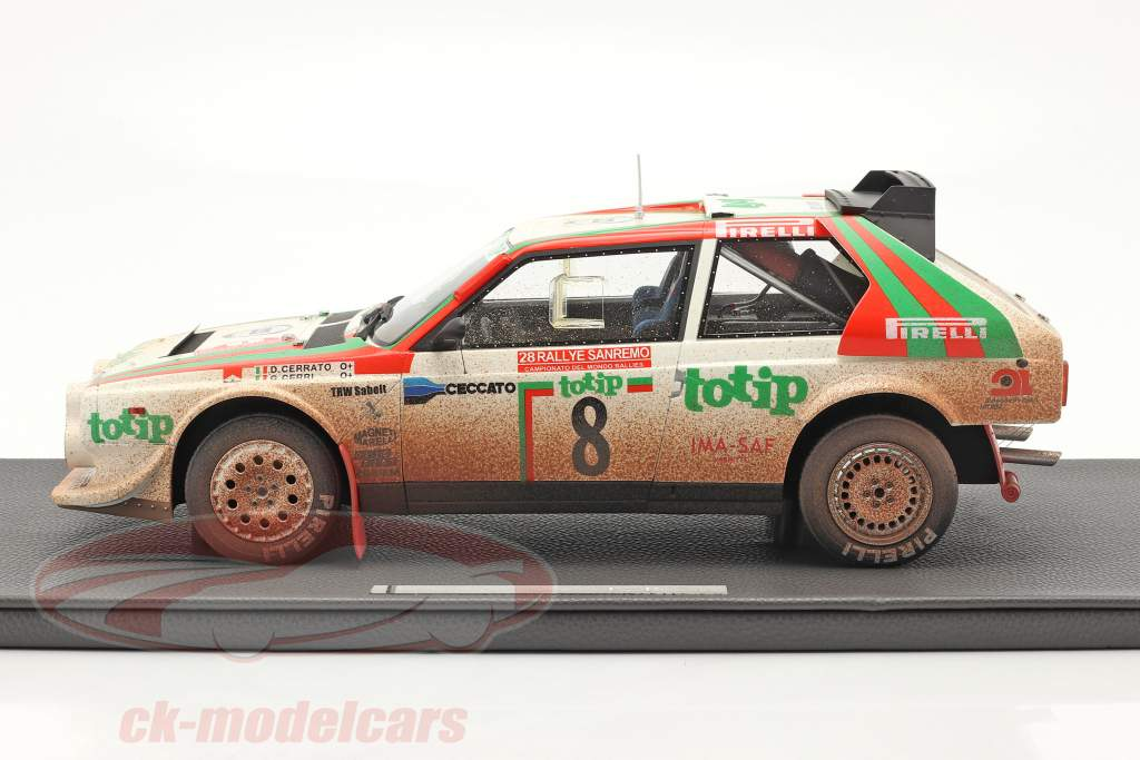 Lancia Delta S4 #8 2nd Rallye SanRemo 1986 Dirty Version 1:12 TopMarques