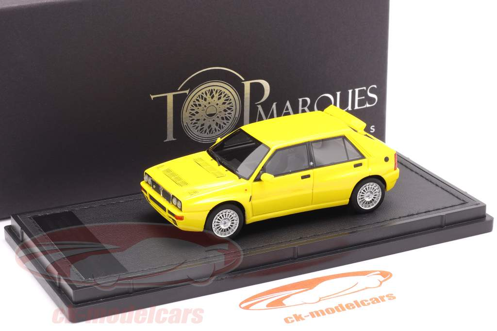 Lancia Delta HF Integrale Evo 2 Byggeår 1992 gul 1:43 TopMarques