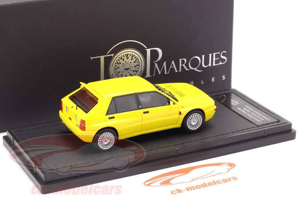 Lancia Delta HF Integrale Evo 2 Ano de construção 1992 amarelo 1:43 TopMarques