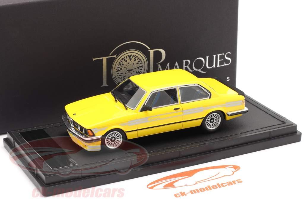 BMW 3 serie 323 C1 2.3 Alpina Año de construcción 1983 amarillo 1:43 TopMarques