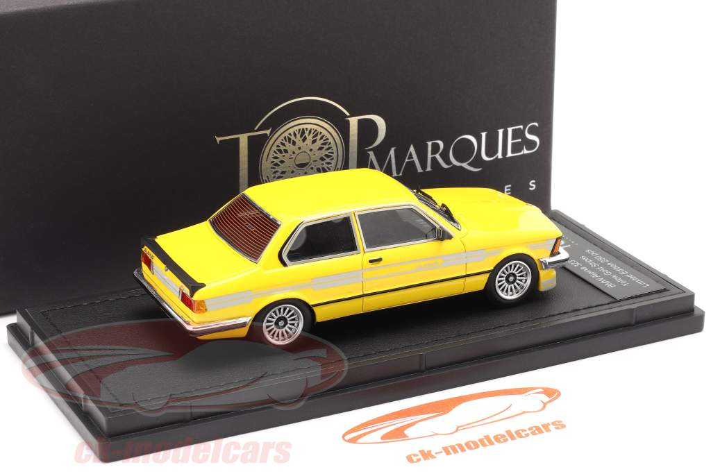 BMW 3 serie 323 C1 2.3 Alpina Byggeår 1983 gul 1:43 TopMarques
