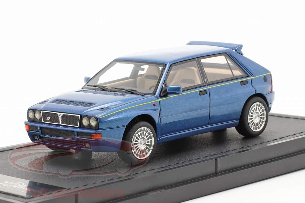 Lancia Delta HF Integrale Evo 2 Bouwjaar 1992 lagos blauw metalen 1:43 TopMarques