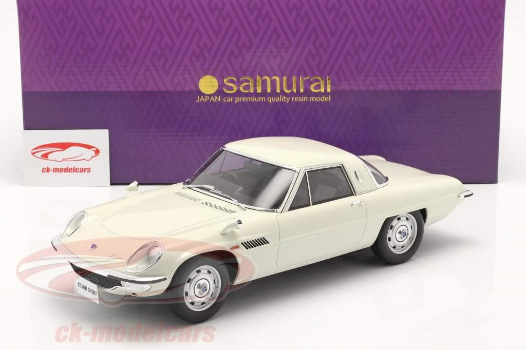 Mazda Cosmo Sport Byggeår 1967 hvid 1:12 Kyosho