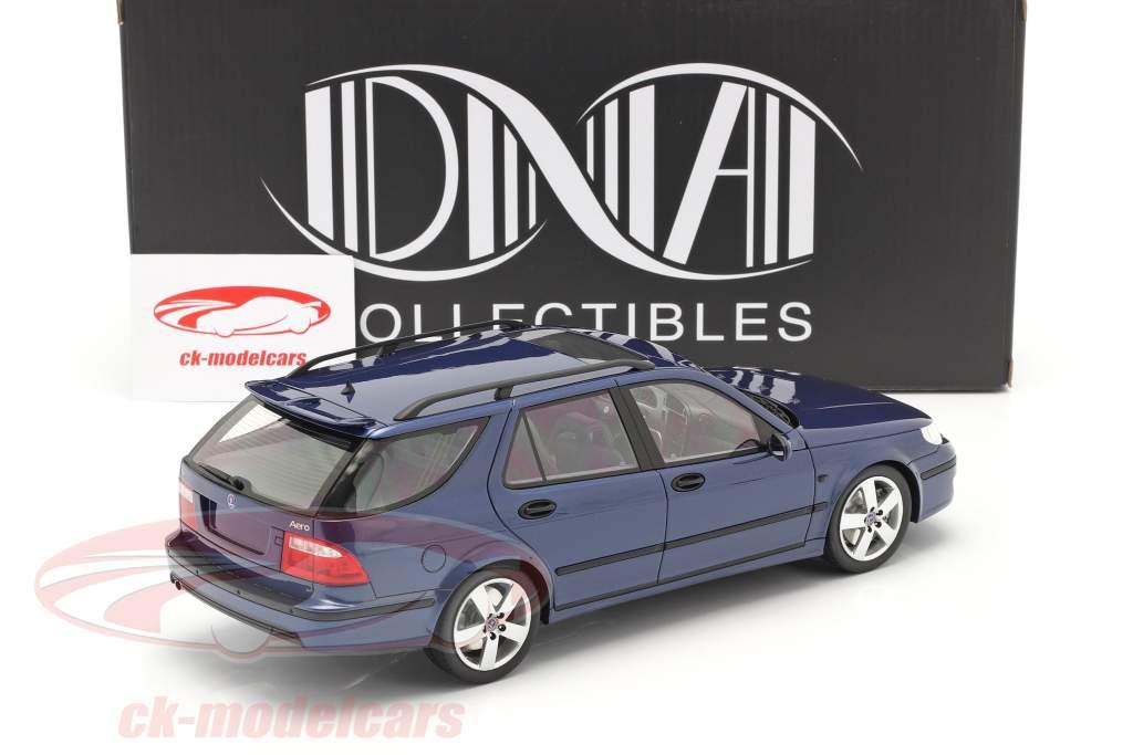Saab 9-5 Sportcombi Aero Año de construcción 2005 azul 1:18 DNA Collectibles