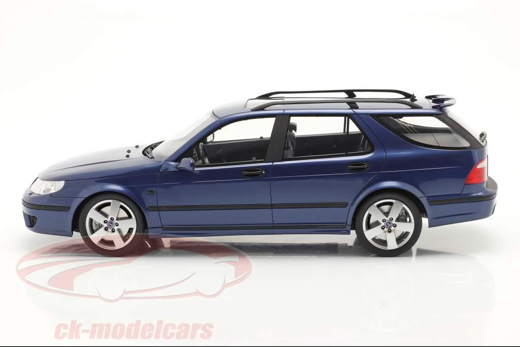 Saab 9-5 Sportcombi Aero Bouwjaar 2005 blauw 1:18 DNA Collectibles