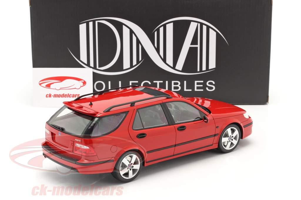 Saab 9-5 Sportcombi Aero Año de construcción 2005 rojo 1:18 DNA Collectibles