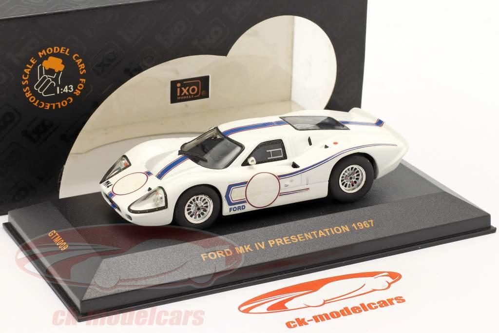 Ford MK IV Presentation Baujahr 1967 weiß / blau 1:43 Ixo