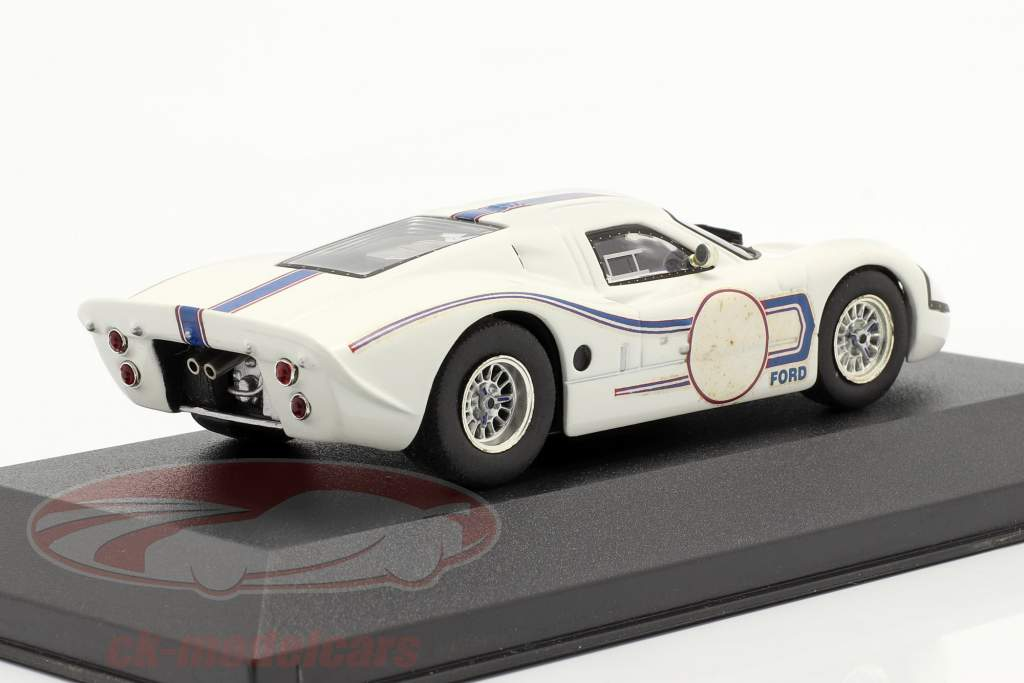 Ford MK IV Presentation jaar 1967 wit / blauw 1:43 Ixo