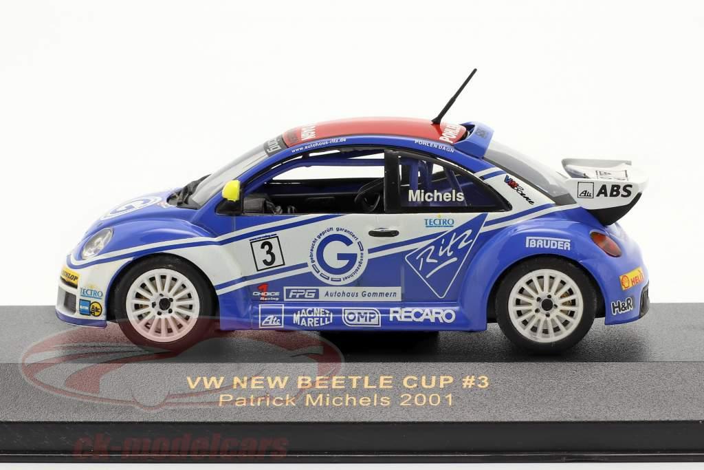 Volkswagen VW Beetle #3 New Beetle Cup 2001 Michels 1:43 Ixo