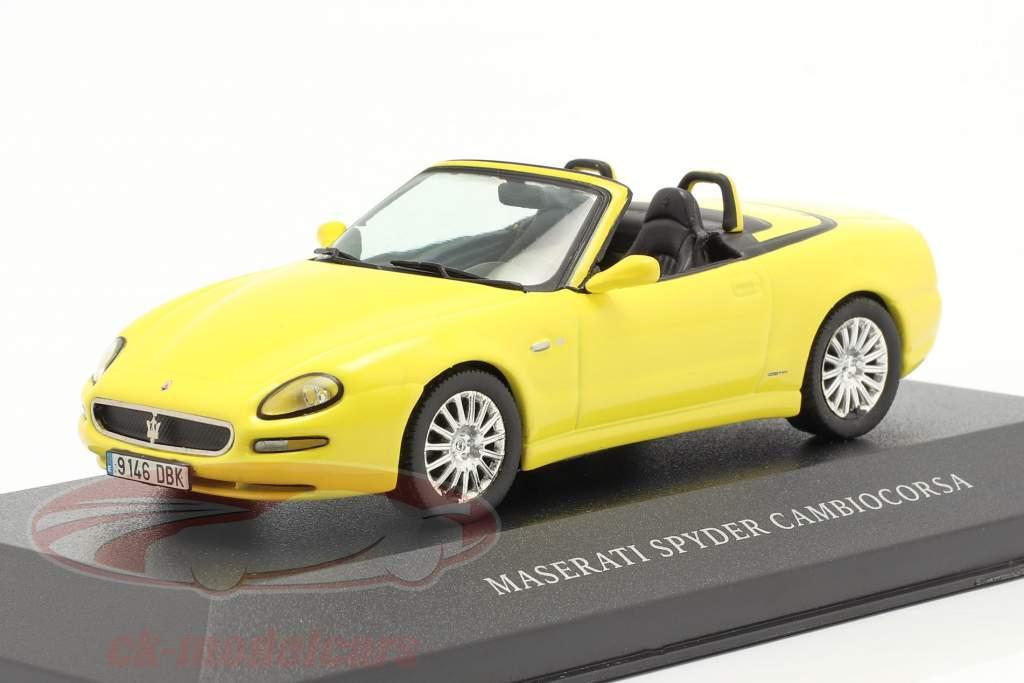 Maserati Spyder Cambiocorsa geel 1:43 Ixo
