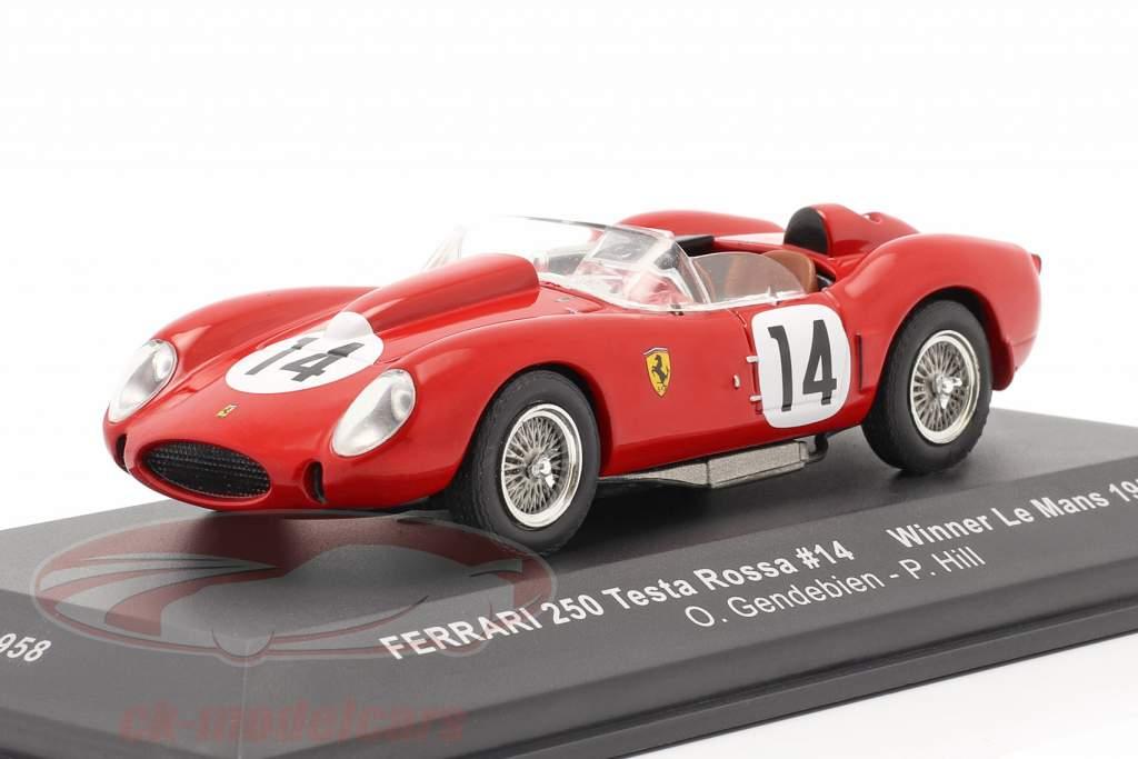 Ferrari 250 Testa Rossa #14 ganador 24h LeMans 1958 Gendebien, Hill 1:43 Ixo