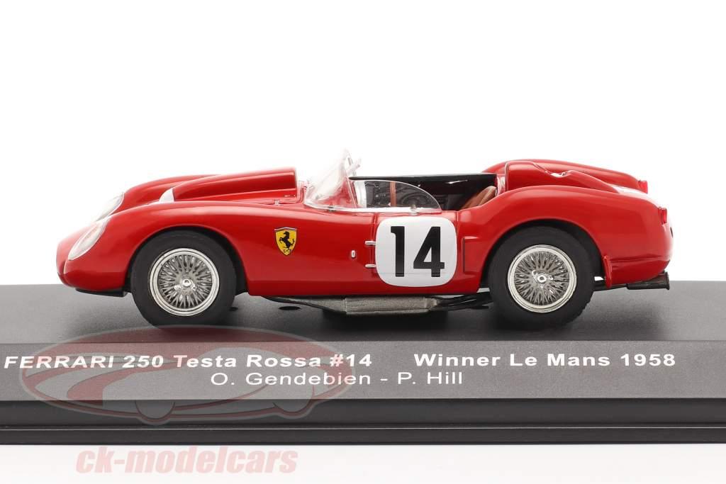 Ferrari 250 Testa Rossa #14 gagnant 24h LeMans 1958 Gendebien, Hill 1:43 Ixo
