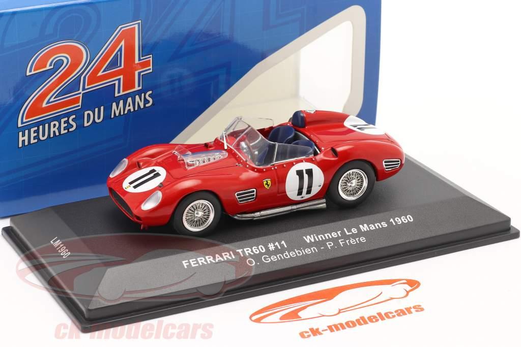 Ferrari TR60 #11 winnaar 24h LeMans 1960 Gendebien, Frere 1:43 Ixo
