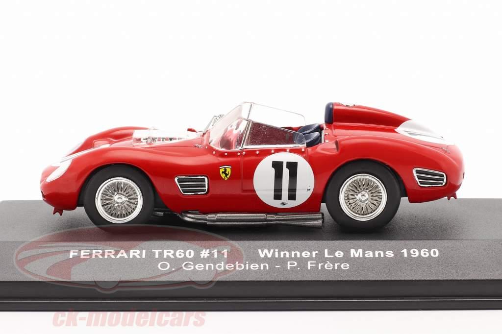 Ferrari TR60 #11 ganador 24h LeMans 1960 Gendebien, Frere 1:43 Ixo
