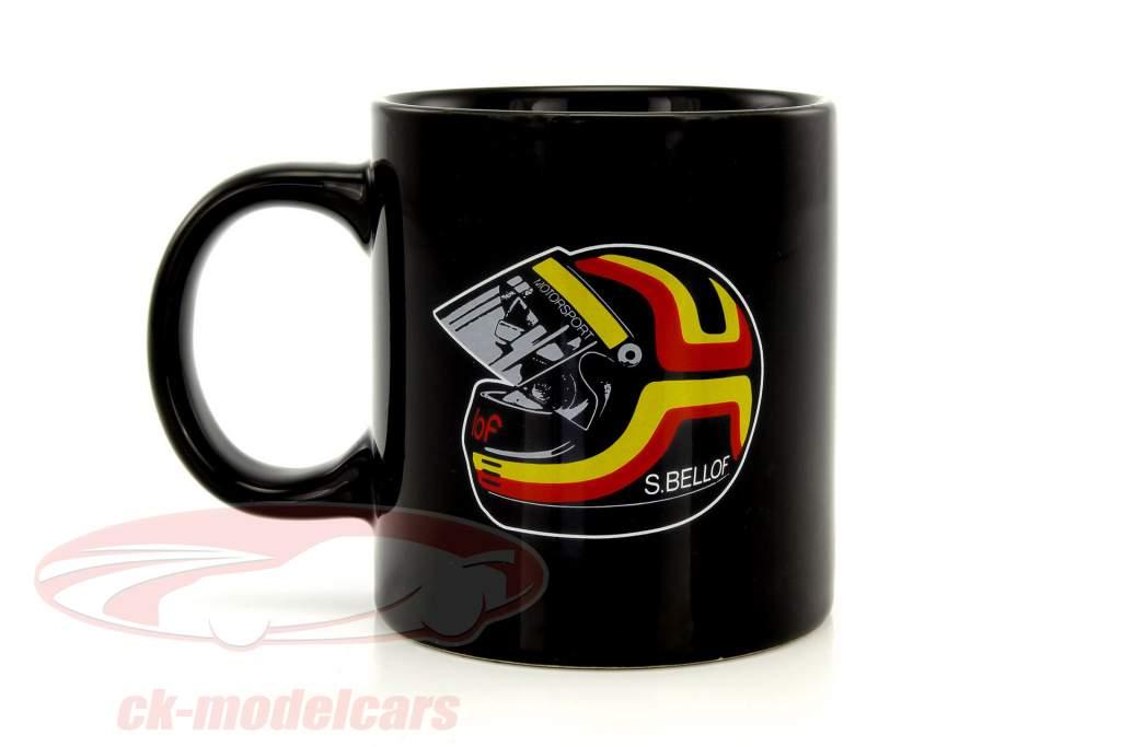 """Stefan Bellof coffee mug """"helmet"""" black"""
