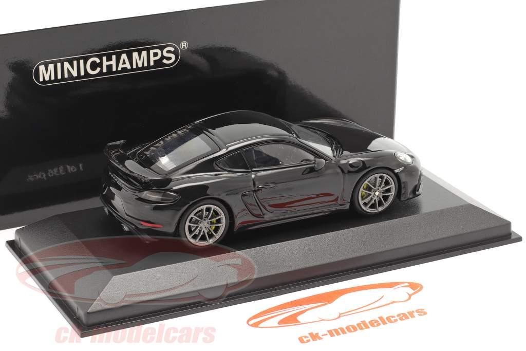 Porsche 718 (982) Cayman GT4 Baujahr 2020 schwarz 1:43 Minichamps