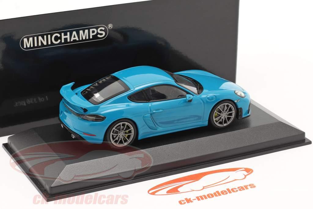 Porsche 718 (982) Cayman GT4 Année de construction 2020 miami bleu 1:43 Minichamps